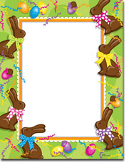 Paper So Pretty - Blank Designer Papers (Chocolate Easter Bunnies) (DP796)